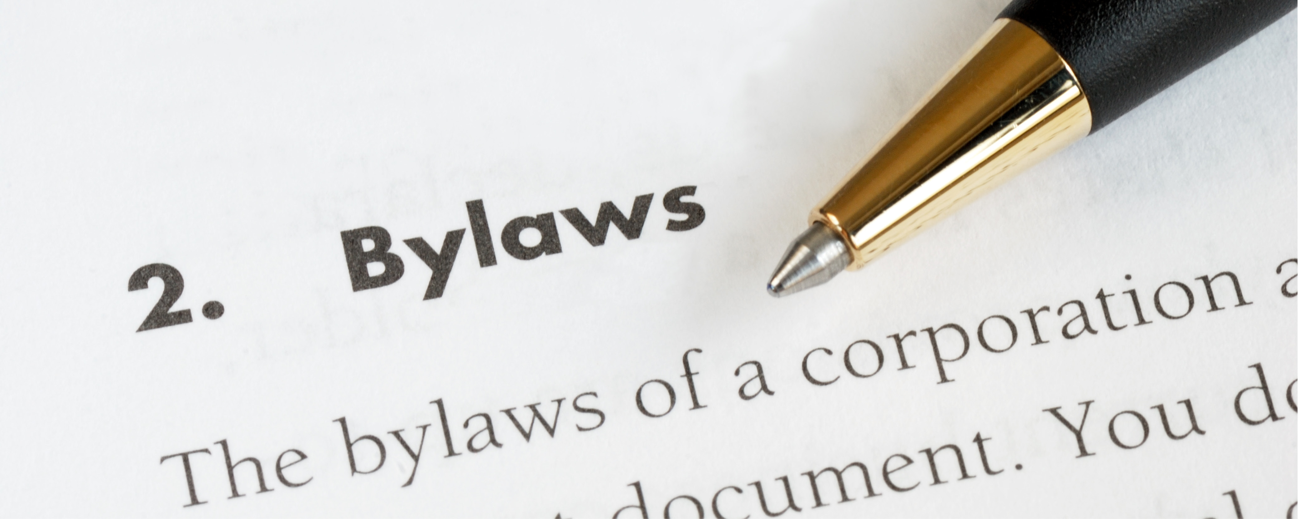 policies and bylaws